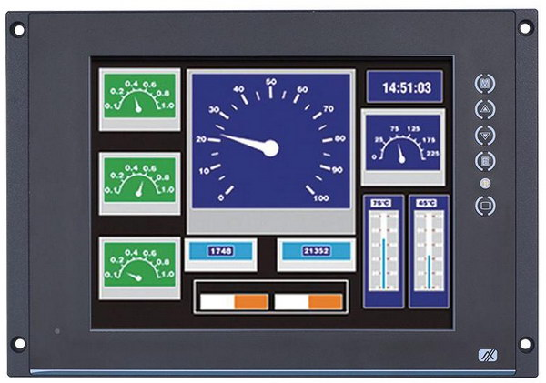 Сенсорный дисплей P6125 для железнодорожного транспорта от компании Axiomtek