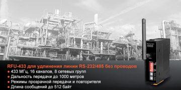 Радиомодем 433 МГц с интерфейсами RS-232/485