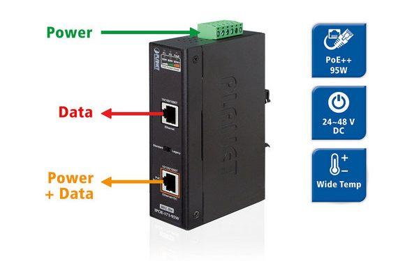 Промышленные инжекторы PoE Planet IPOE-171-60w и IPOE-171-95w