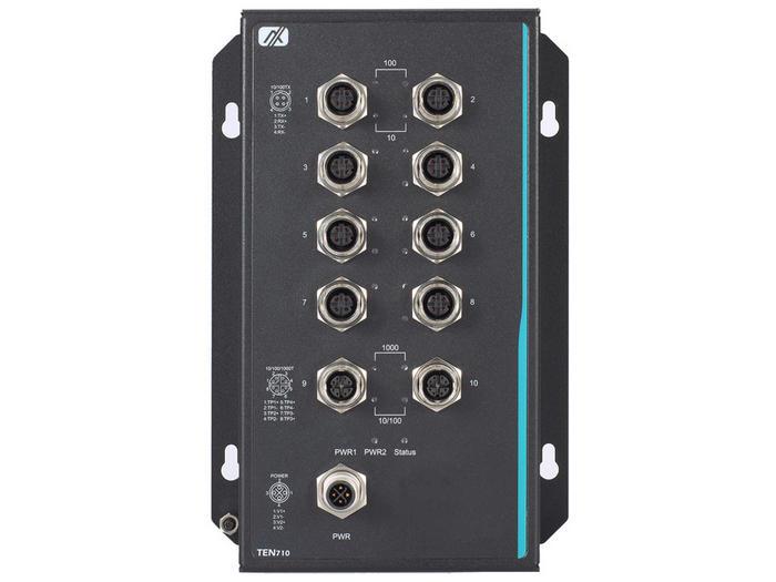 Промышленные коммутаторы Axiomtek TEN710 стандарта EN50155