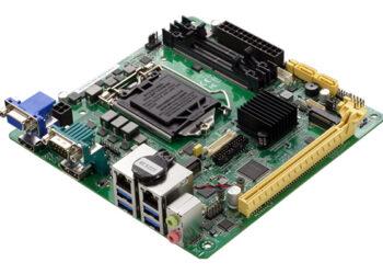 Процессорная плата Aaeon MIX-H310A2 с видеоинтерфейсами HDMI, DisplayPort, VGA и LVDS