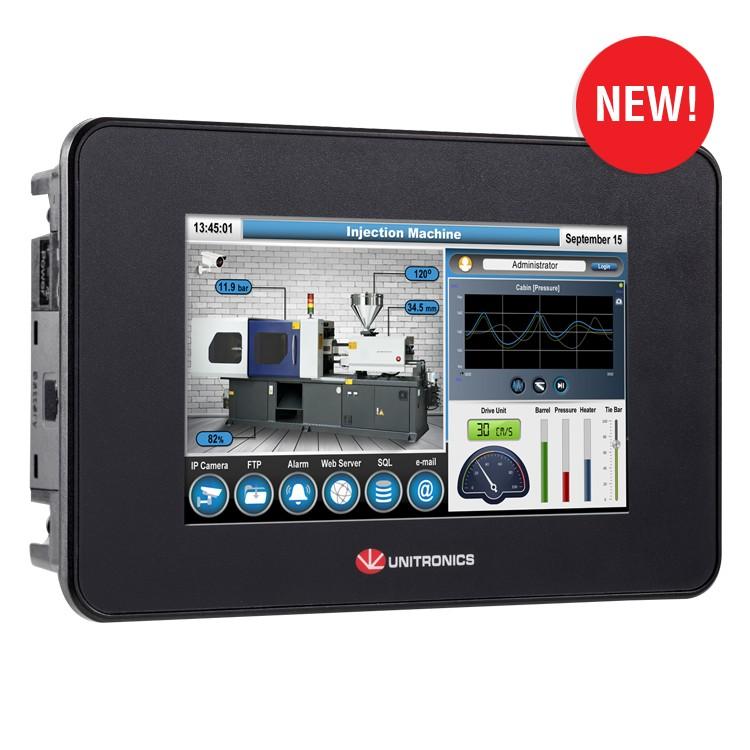 """UniStream 5"""": PLC+HMI+I/Os Компактный. Современный. Подключаемый"""
